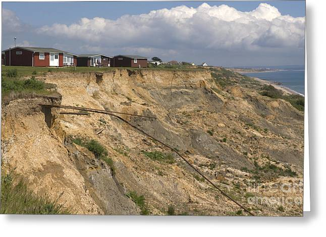 Dorset Greeting Cards - Coastal Erosion at Highcliffe Greeting Card by Andy Smy