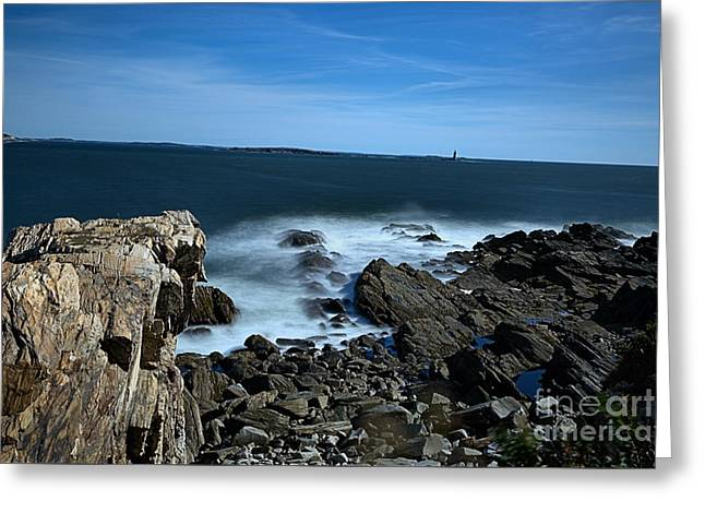 Coastal Maine Greeting Cards - Coastal Ethereal Waters Color Greeting Card by Kp Hurt
