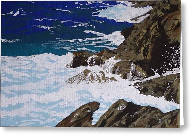 Coastal Falls Greeting Card by Margaret Brooks