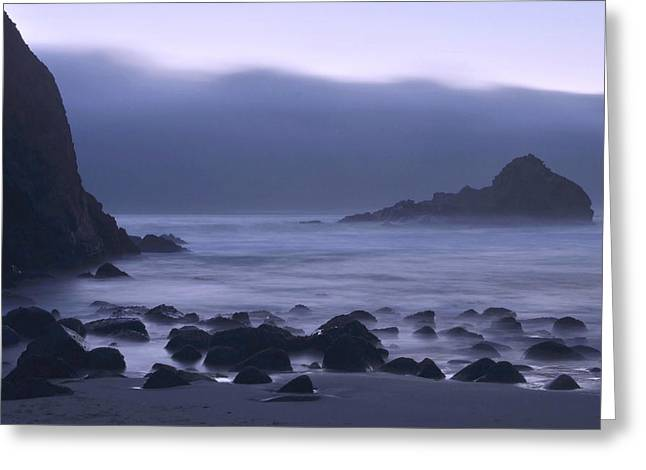 Recently Sold -  - Pfeiffer Beach Greeting Cards - Coastal Fog - Big Sur Greeting Card by Stephen  Vecchiotti