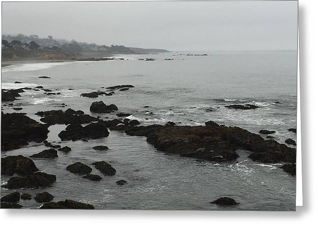 Cambria Greeting Cards - Coastal Fog Greeting Card by Russell Keating