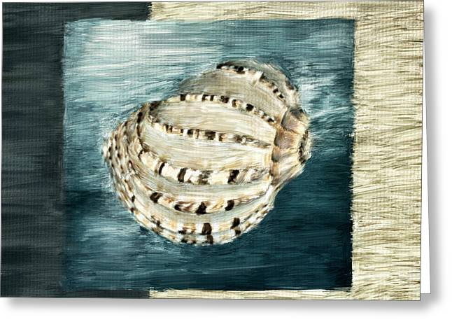 Shell Pattern Greeting Cards - Coastal Jewel Greeting Card by Lourry Legarde