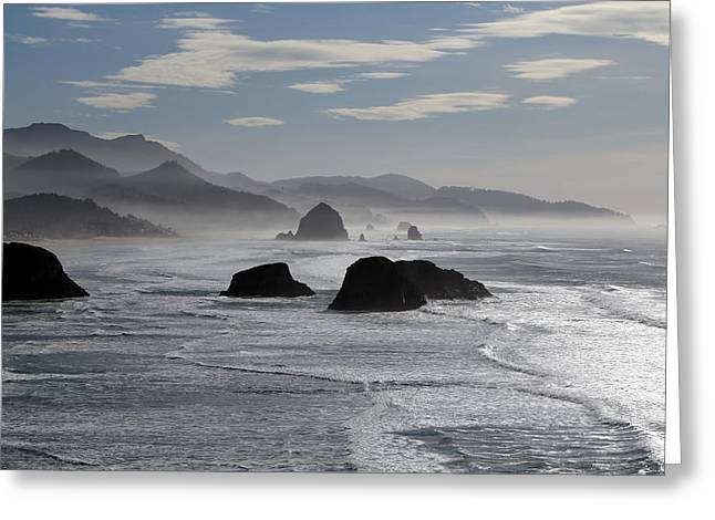 Recently Sold -  - Monolith Greeting Cards - Coastal Mist Greeting Card by Randall Brewer