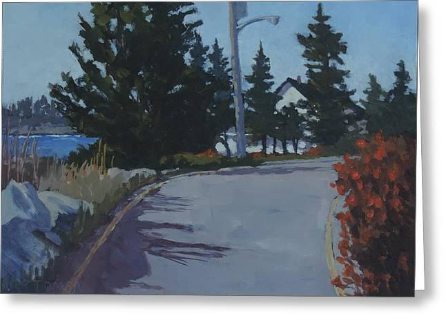 Sea View Greeting Cards - Coastal Road Greeting Card by Bill Tomsa