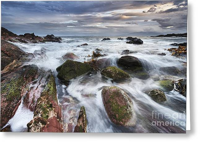 Ayrshire Greeting Cards - Coastal Storm 1 Greeting Card by Rod McLean