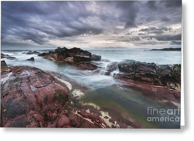 Ayrshire Greeting Cards - Coastal Storm 2 Greeting Card by Rod McLean