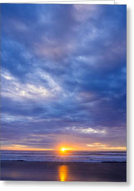 Ocean. Reflection Greeting Cards - Coastal Sunset Greeting Card by Kerry Drager