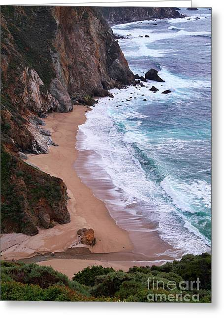 Big Sur Greeting Cards - Coastal View at Big Sur Greeting Card by Charlene Mitchell