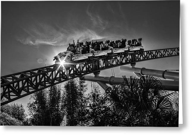 Commercial Photography Greeting Cards - Coaster Ride Greeting Card by Kevin Cable