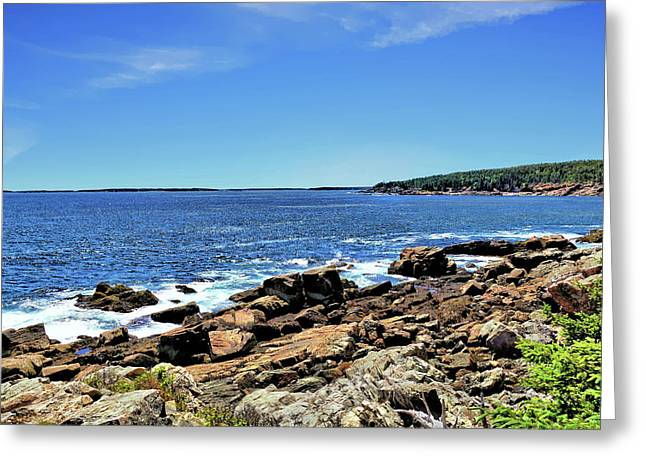 Nature Greeting Cards - Coastline at Otter Point 3 Greeting Card by John Trommer