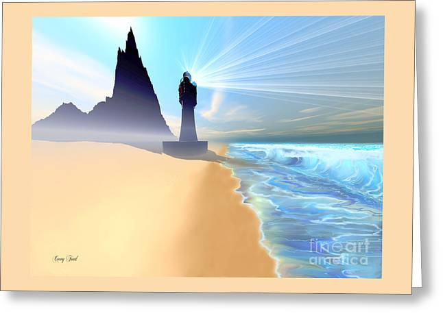 Coastline Greeting Card by Corey Ford