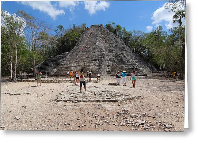 Civilization Greeting Cards - Coba Archeological Site Greeting Card by Robert  McKinstry