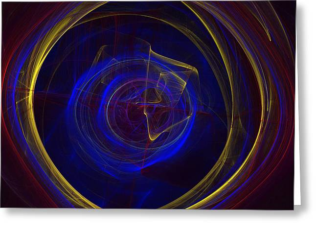 Apophysis Digital Art Greeting Cards - Cobalt Blue Greeting Card by Deborah Benoit