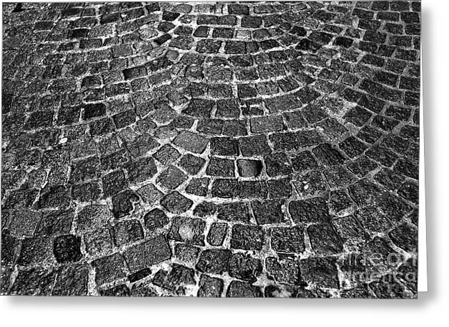Salzburg Greeting Cards - Cobblestone Pattern Greeting Card by John Rizzuto