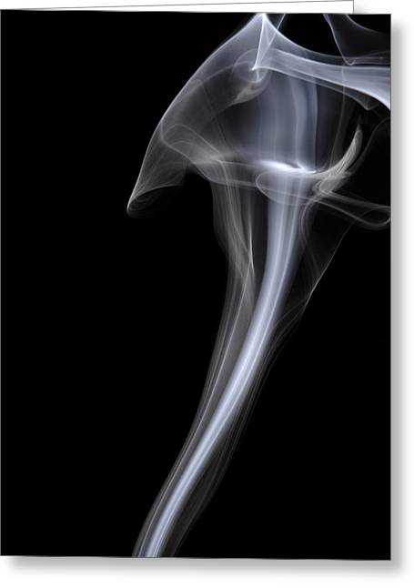 Smoke Art Greeting Cards - Cobra Greeting Card by Bryan Steffy