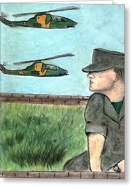 Military Pastels Greeting Cards - Cobra Greeting Card by Melvin Moon