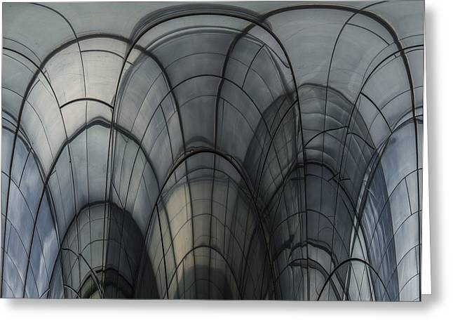 """black Blues"" Greeting Cards - Cobweb Cathedral Greeting Card by Luc Vangindertael"