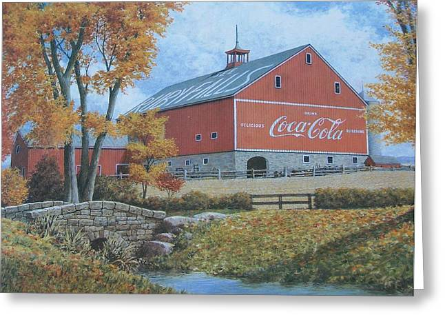 Fotoart By Jake Greeting Cards - Coca Cola Americana Greeting Card by Jake Hartz