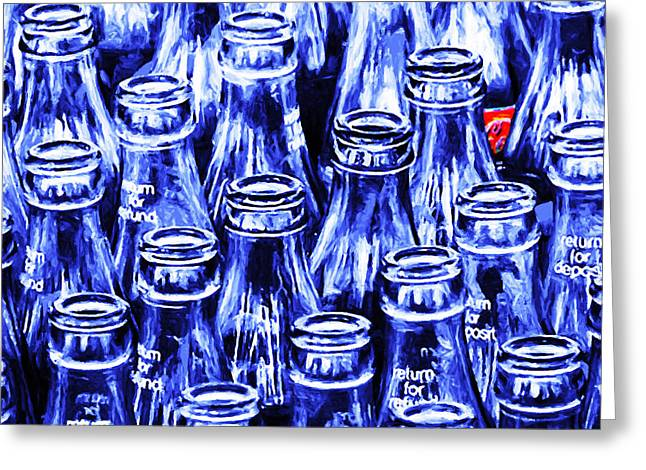 Coca-cola Coke Bottles - Return For Refund - Square - Painterly  Greeting Card by Home Decor