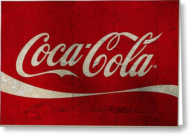 Coca Cola Concrete Wall Greeting Card by Dan Sproul