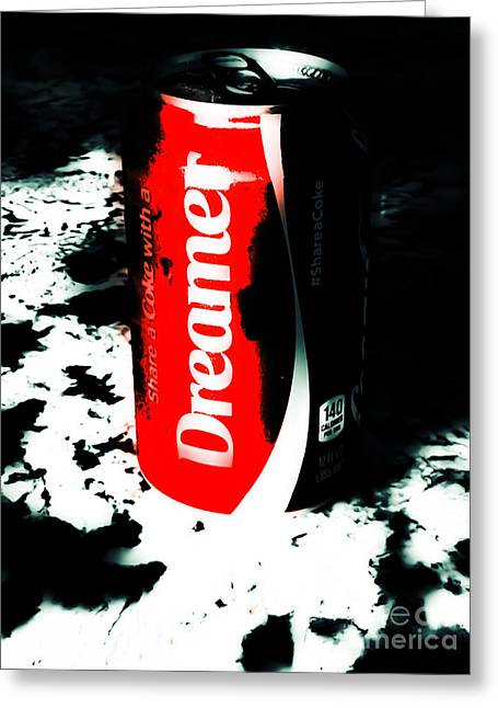 Coca Cola.coke-a-cola Greeting Cards - Coca Cola Dreamin Greeting Card by Heather Joyce Morrill