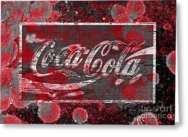 Coca Cola Bubbles Greeting Card by John Stephens
