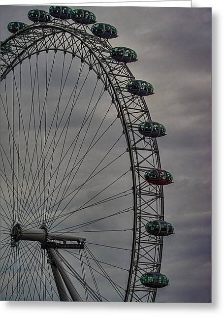 Capsule Greeting Cards - Coca Cola London Eye Greeting Card by Martin Newman