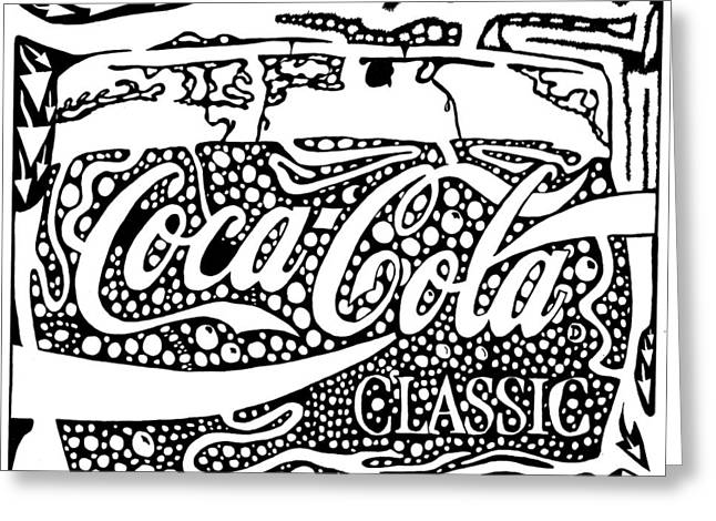 Coca-cola Maze Advertisement  Greeting Card by Yonatan Frimer Maze Artist