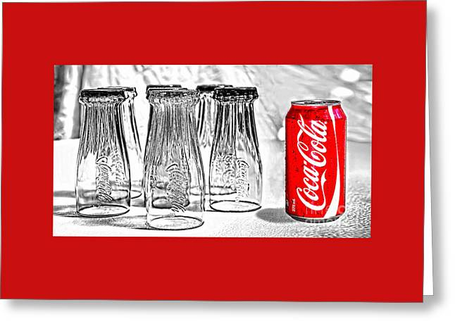 Fizzy Greeting Cards - Coca-Cola ready to drink by Kaye Menner Greeting Card by Kaye Menner