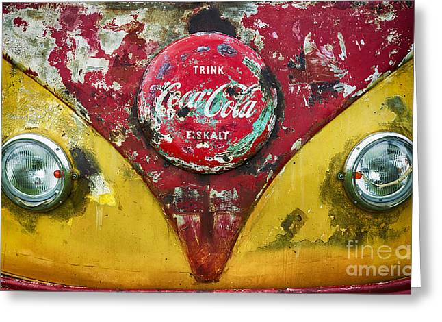 Coca Cola Vw Split Screen  Greeting Card by Tim Gainey