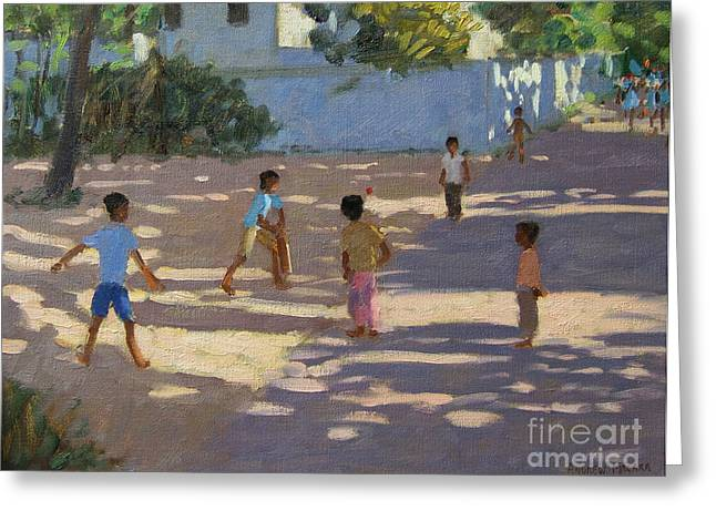 Cricket Paintings Greeting Cards - Cochin Greeting Card by Andrew Macara