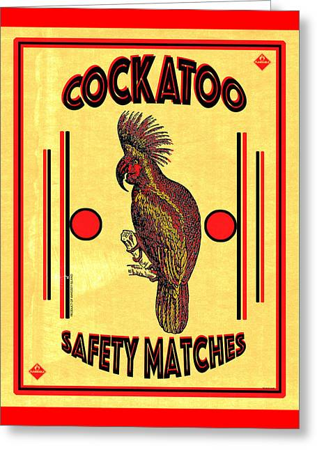 Greeting Cards - Cockatoo Safety Matches Greeting Card by Carol Leigh