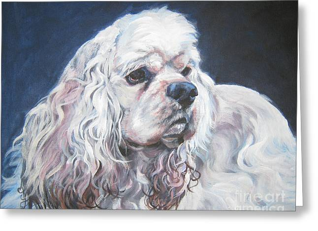 Spaniel Greeting Cards - Cocker Spaniel  1 Greeting Card by L A Shepard