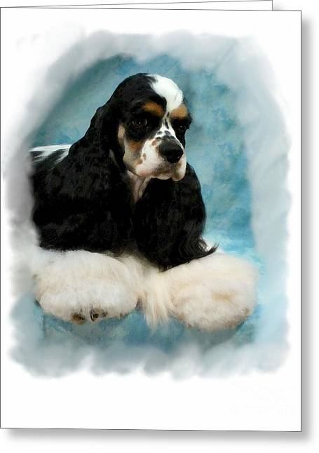 Cocker Spaniel 814 Greeting Card by Larry Matthews