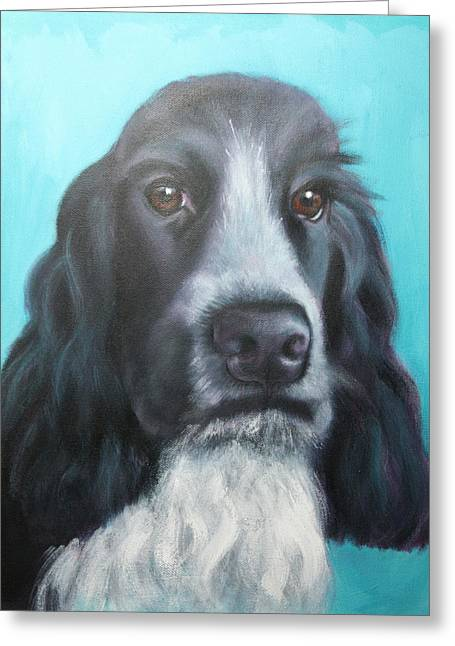 Spaniel Greeting Cards - Cocker Spaniel Greeting Card by Alison Stafford