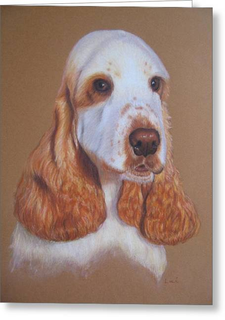 Spaniel Greeting Cards - Cocker Spaniel Greeting Card by Luci Garten