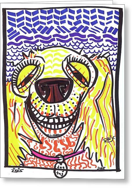 Rwjr Drawings Greeting Cards - Cocker Spaniel Greeting Card by Robert Wolverton Jr