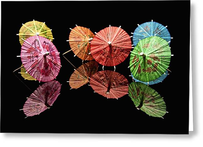 Mixed Drink Greeting Cards - Cocktail Umbrellas II Greeting Card by Tom Mc Nemar