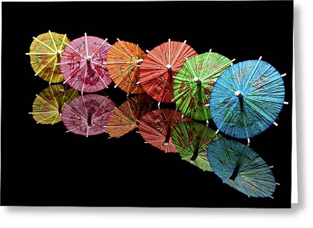 Mixed Drink Greeting Cards - Cocktail Umbrellas III Greeting Card by Tom Mc Nemar