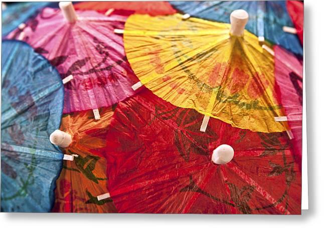 Cocktail Umbrellas V Greeting Card by Tom Mc Nemar