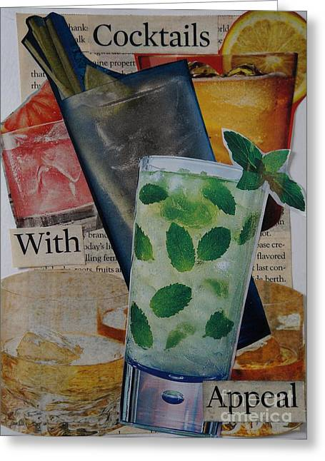 Mojito Mixed Media Greeting Cards - Cocktails With Appeal Greeting Card by Denise Fleming