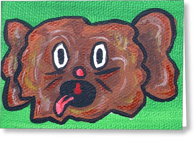 Green Beans Paintings Greeting Cards - Coco Bean Greeting Card by Jera Sky