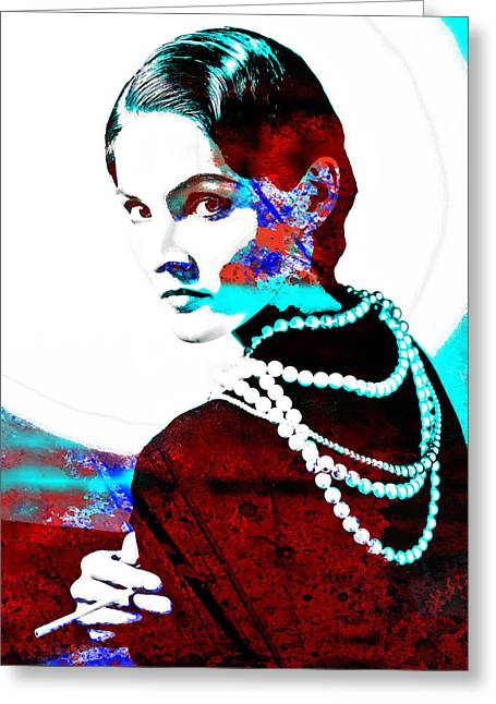 Coco Chanel Hommage Greeting Card by Vel Verrept
