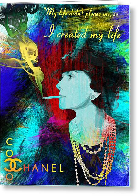 Recently Sold -  - Powder Greeting Cards - Coco Chanel  Greeting Card by Nostalgic Art