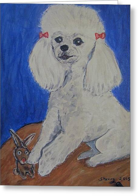 Toy Dog Greeting Cards - CoCo Greeting Card by Sherry Heller