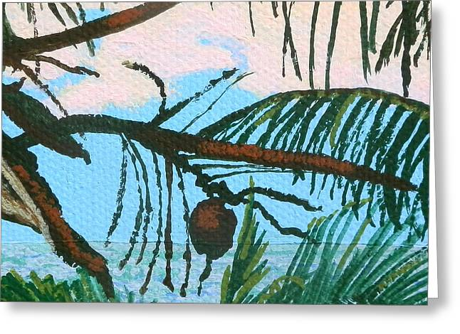St Margaret Paintings Greeting Cards - Coconut Greeting Card by Margaret Brooks