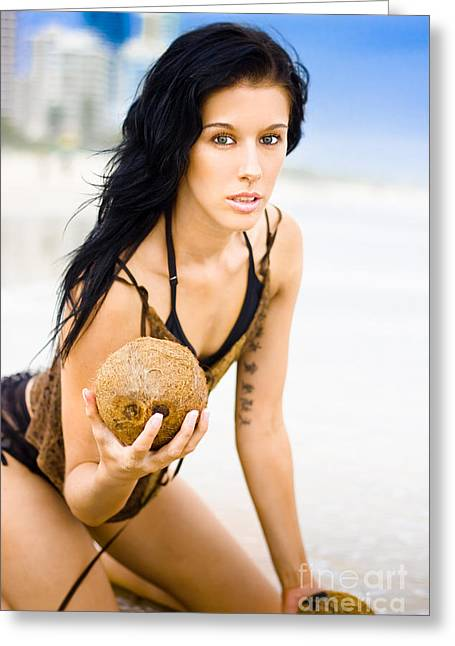 Coconuts In Paradise Greeting Card by Jorgo Photography - Wall Art Gallery