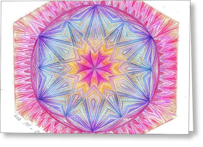 Sacred Drawings Greeting Cards - Code M Greeting Card by Cveta Dinkova