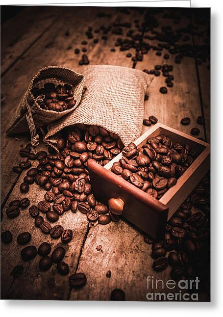 Coffee Bean Art Greeting Card by Jorgo Photography - Wall Art Gallery