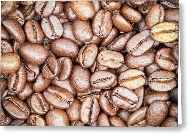 Signed Photographs Greeting Cards - Coffee Beans Greeting Card by Wim Lanclus